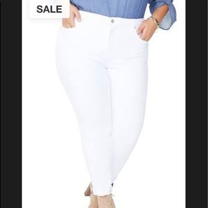 Stretch Jones New York Sport Women White Jeans